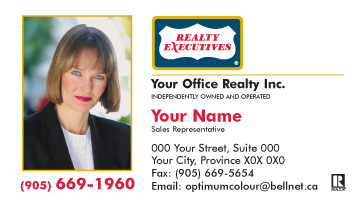 Optimum colour printing realty executives business cards template colourmoves Images