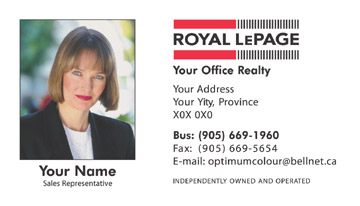 Optimum colour printing royal lepage business cards template reheart Images
